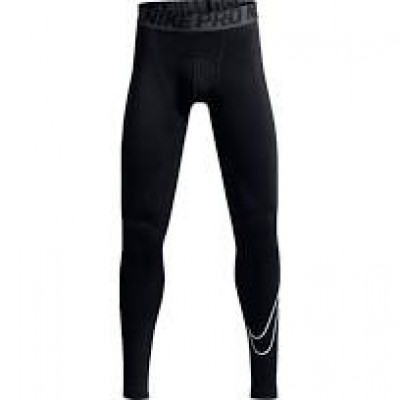 KIDS NIKE HYPERCOOL COMPRESSION TIGHTS , BLACK